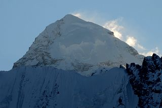 K2 East Face Close Up Just Before Sunset From Gasherbrum North Base Camp In China